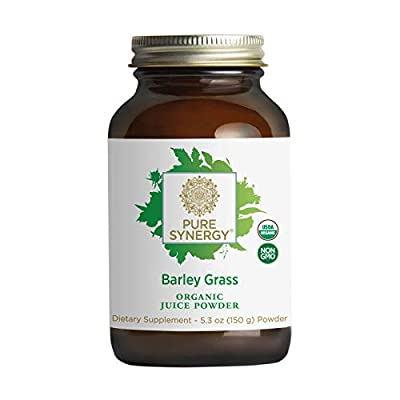 Pure Synergy Barley Grass Juice | 5.3 oz Powder | USDA Organic | Non-GMO | Vegan | Made and Sourced in The USA | Cold-Juiced and Low-Temperature Dried from The Synergy Company