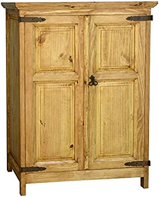 Monterray Rustic Short Armoire Fully Assembled