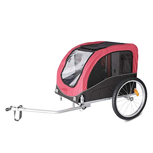 wuuhoo® I Hunde-Fahrradanhänger Bello I faltbar kompakt und wendig I Fahrrad-Anhänger mit/ohne Jogger-Aufsatz für Hunde bis 40 kg Hundefahrradanhänger ohne Jogging Kit
