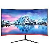 Zzmop Pantalla Smart TV Curvada Sin Bordes de 24 Pulgadas,TV LED Ultra HD de 1080p con Monitor de Pantalla Ancha,Ángulo de Visión Súper Amplio de 178°.