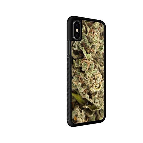 bud phone cases Marijuana Kush Weed Protective Rubber Phone Case 420 dank Bud (Compatible with iPhone X)