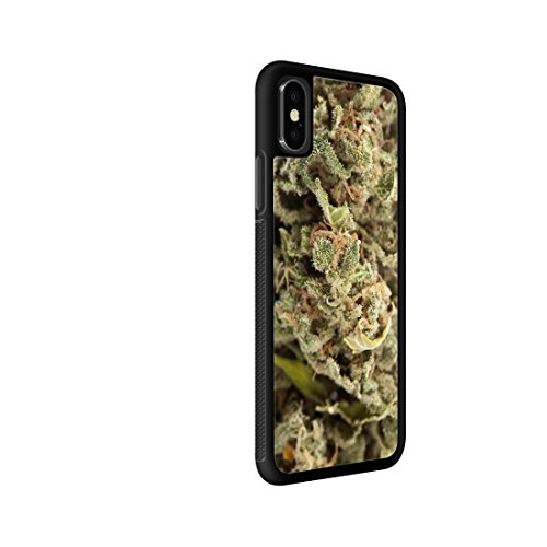 407Case Compatible with iPhone XR Marijuana Kush Weed Protective Rubber Phone Case 420 dank Bud (iPhone XR)