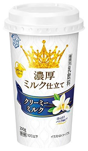 【冷蔵】【12個】濃厚ミルク仕立てクリーミーミルク 200g 雪印メグミルク