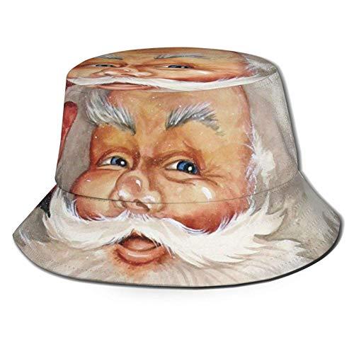 Bokueay Papá Noel con Sombrero de Cubo con Estampado de Caja, Gorra de Pescador para Pescar, para Viajes de Mujer