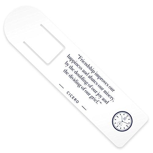 Stoic Time Cicero Friendship Quote Bookmark