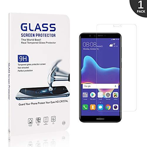 Generic Schutzfolie für Huawei Y9 2018, LAFCH 9H Härte Anti-Kratzen Folie Panzerglas Displayschutzfolie Kompatibel mit Huawei Y9 2018, 1 Stück