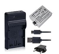 NinoLite 3点セット LP-E5 互換 バッテリー +USB型 充電器 +海外用交換プラグ 、キャノン Canon 対応 dc27lpe5