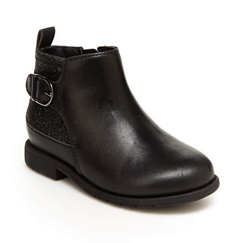 Stride Rite Girls Classic Fashion Boot, Black, 8.5 Toddler