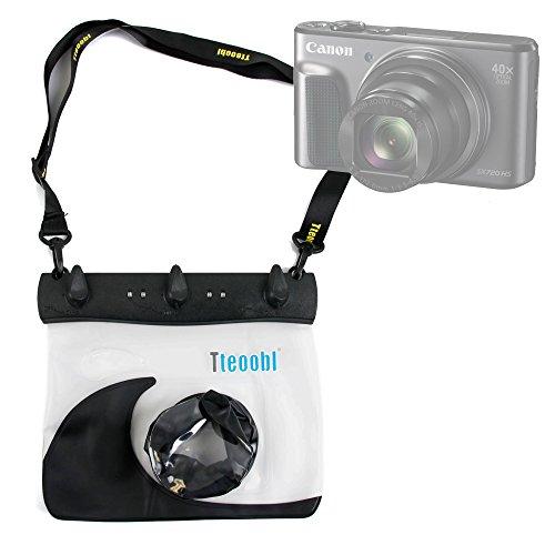 DURAGADGET Housse imperméable/étui Noir pour Canon PowerShot G7 X Mark II et PowerShot SX720 HS Appareil Photo compacts - Protection étanche et Cordon réglable