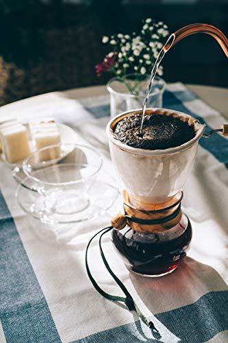 抽出する前に、サーバーやカップやなどの器具を温めておきましょう。サーバーのお湯を捨てたら、抽出スタートです!  1.はじめのお湯を入れる 中央からゆっくりとお湯を注ぎ、コーヒー粉全体を蒸らすようにお湯を染み込ませる。  2.ネルを覗き、ぷくぷくと泡が出てきたら蒸らし完了  3.2回目のお湯を入れる ケトルの注ぎ口を上下させるように中央からお湯を注ぎ、次第に「の」の字を描くように1、2周。  4.もこもこと膨らんだ泡が凹んだ時に次のお湯を注ぐ あと2、3回に分けてお湯を注ぐ。仕上がり量まで達したら、抽出完了。