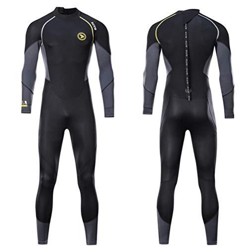 Herren Ganzkörper-Neoprenanzug, 1,5 mm Neopren-Triathlon Badeanzug Warm Tauchen Taucheranzug für Surfen Schnorcheln Spear,XXXL