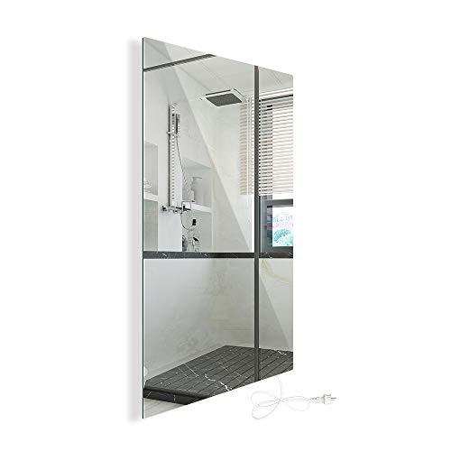 450W Infrarotheizung Spiegelheizung mit Ein-/Ausschalter Spiegel Heizung Infrarot Wandheizung Heizplatte Heizpaneel Elektrisch Energieeinsparend Carbon Crystal mit CE RoH