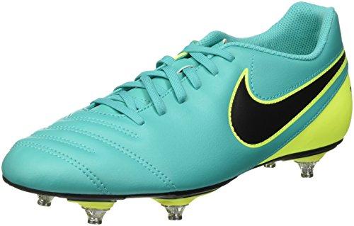Nike Herren Tiempo Rio Iii SG Fußballschuhe, Mehrfarbig (Clear Jade/Black-Volt), 44.5 EU