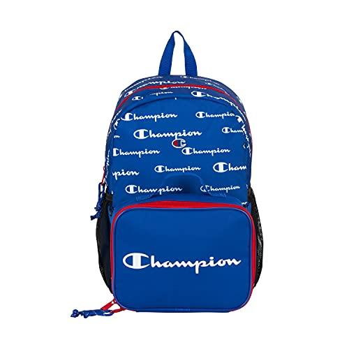 Champion Supercize Mochila juvenil con kit de almuerzo, azul/rojo (Azul) - CHY1018