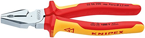 KNIPEX 02 06 200 SB Alicate universal para trabajos pesados cromado VDE...