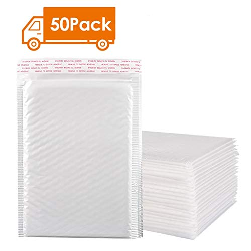 50 Pcs, Poly Bubble Mailers Padded Envelopes Lined Poly Mailer Self Seal -$11 (80% Off with code)