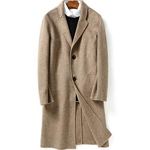 ZXYSMM Abrigo de cachemira de doble faz abrigo medio para hombre gabardina de lana de alpaca Albaka/A/XL