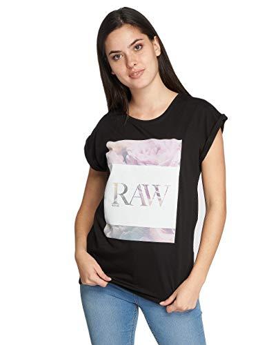 MERCHCODE Damen Ladies Hustler Raw Tee T-Shirt, Black, S