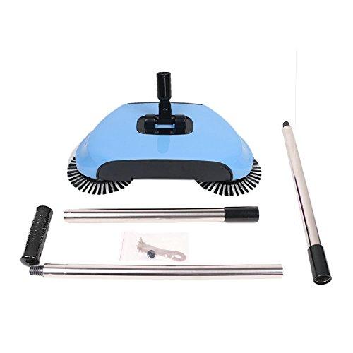 Balai manuel à brosses rotatives et manche télescopique