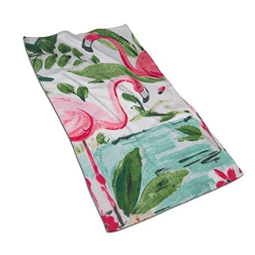 VimcustomPr Flamingo - Juego de toallas de mano altamente absorbentes (40 x 70 cm, algodón egipcio), diseño de flamenco