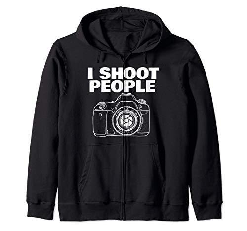 I shoot people funny photographer I shoot people Sudadera con Capucha