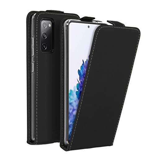 Accezz Flipcase Hülle kompatibel mit Samsung Galaxy S20 FE– Flip Hülle Tasche – Handytasche zum Aufklappen in Schwarz [1 Kartenfach, Magnetverschluss, Premium Kunstleder]