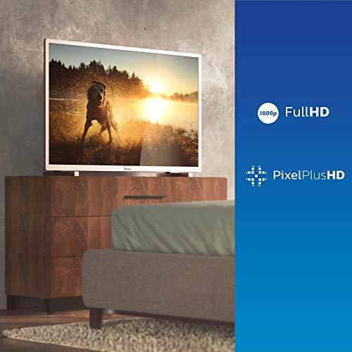Philips 43PFS5525/12 43-Zoll-LED-Fernseher (Full HD, Pixel Plus HD, Full-Range-Lautsprecher, 2 x HDMI, USB) mit Soundbar B5305/12 inkl. Subwoofer (Bluetooth, 70 W) Mittelsilber/Grau