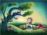 Póster 80 x 60 cm: Alice in Wonderland de Elena Schweitzer - impresión artística, Nuevo póster artístico