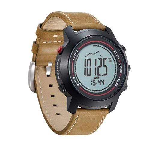 Mygsn Watch Outdoor-Sport-Multifunktions-Uhr leuchtende wasserdichte intelligente Uhr läuft Bergsteigen Watch (Farbe : Braun)