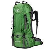 60L Waterproof Lightweight Hiking Backpack with Rain Cover,Outdoor Sport Travel Daypack for Climbing...