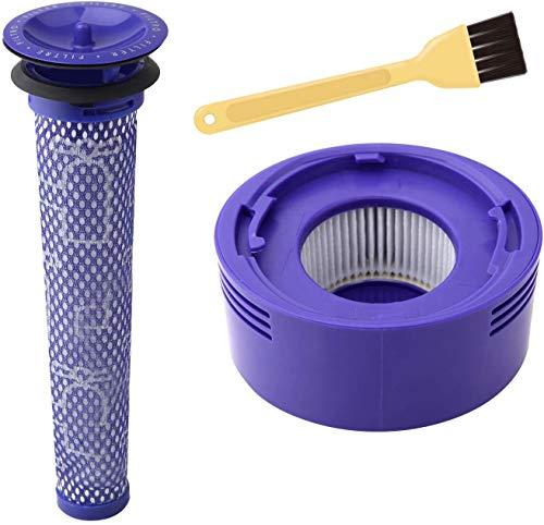 Waschbar Filter Einheit für Dyson V7 V8 Cyclone Animal Absolute Total Reinigung Staubsauger Ersatzteile,HEPA-Filter-Set für Dyson V8 kabelloser Staubsauger