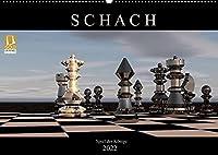 SCHACH - Spiel der Koenige (Wandkalender 2022 DIN A2 quer): Fantastische Bilder aus der Welt des Schachs (Monatskalender, 14 Seiten )