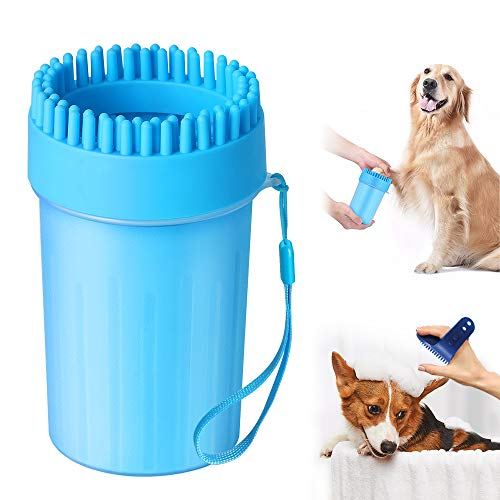 Aerb [2020] Upgrade Dog Paw Cleaner, Portable Pet Cleaner with Bath brush,...