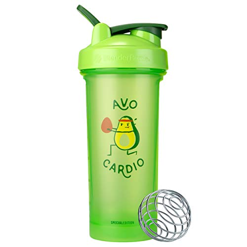 BlenderBottle Just for Fun Classic V2 Shaker Bottle Perfect for Protein Shakes and Pre Workout, 28-Ounce, Avo Cardio