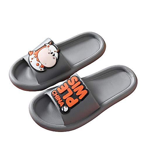 XZDNYDHGX Zapatillas Sandalias Inferiores Suaves Gris 66, Pantuflas de baño con Dibujos Animados Bonitos para Hombre, Chanclas de Fondo Suave Antideslizantes para Mujer para niños y niñas EU 43-44