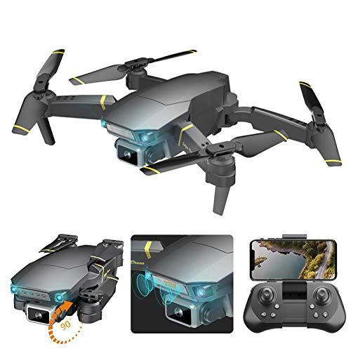 QAIYXM 1080P Mini-Drohne mit Dual-Kameras, Wireless-LAN APP FPV Faltbare RC Quadcopter, Altitude Hold, Headless Modus, Route Flug, Gestensteuerung