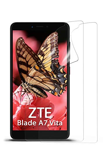 MoEx® Kristallklare HD Schutzfolie passend für ZTE Blade A7 Vita | Premium Bildschirmfolie - Kratzfest & Fast unsichtbar - Ultra Klar