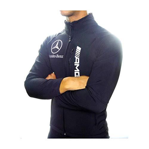 Mercedes-Benz Softshell-Jacke ///AMG, Qualität und europäische Größen, Schwarz XXXL