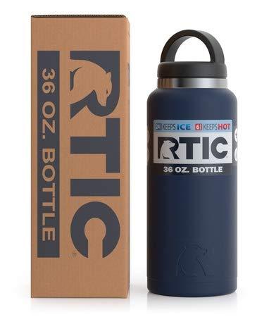 Rtic Stainless Steel Bottle (36oz), Matte Navy Blue