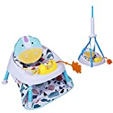 Vilobos Baby Floor Seat,2 in 1 Infant Sitting Chair and Door Jumper Toddler with Music Box Door Clamp for Exercise The Leg Muscles,Easy Assembly,Removable,Portable