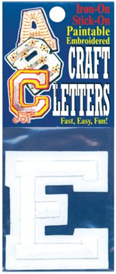 Joy S.A. 50100-50105 Embroidered Craft Letter, E, 2-Inch a7045661760839