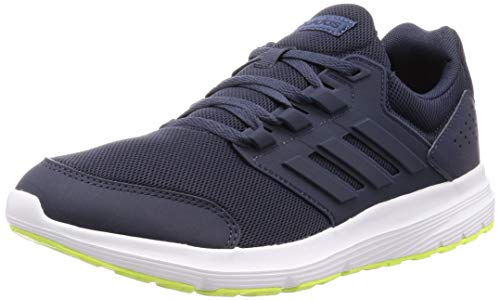 adidas Men's Galaxy 4 Running Shoes, Blue (Trace Blue F17/Trace Blue  F17/Hi/Res Yellow Trace Blue F17/Trace Blue F17/Hi/Res Yellow), 9 UK