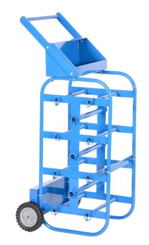 """Vestil WIRE-D-E Steel Economy Wheel Wire Reel Caddy, 17-3/4"""" Width, 43-1/4"""" Height, 19-1/2"""" Depth, 150 lbs Capacity"""