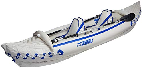 Sea Eagle 330 Pro 2 Person Inflatable Sport Kayak Canoe Boat with Pump and Oars