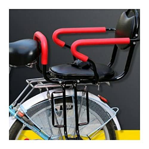 SKYWPOJU Asiento Trasero de Bicicleta para bebés y niños con reposapiés/reposabrazos, Valla Desmontable Asiento Trasero de Bicicleta para niños de 2 a 8 años (hasta 100 Libras) | Fácil de Instalar