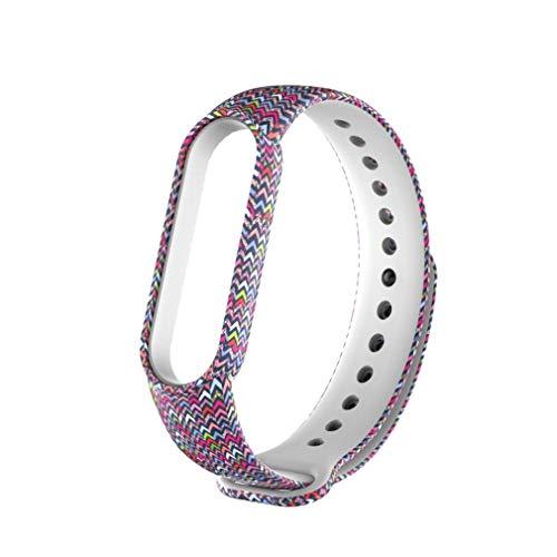 para Mi Band 5 Patrones Pintados Correa de Reloj Pulsera Pulsera reemplazable Rayas de Colores Multicolores