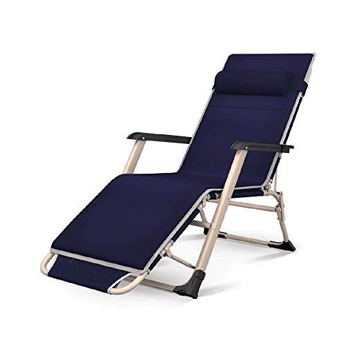 CHAIR Klappliege, Schwerelosigkeit Camping Klappliege Für Den Innenhof Beach Garden Sun Angelstuhl Mittagspause Lazy Couch Rückenlehne Lounge Chair, 4-Gang-Einstellung,Ein,85X78Cm