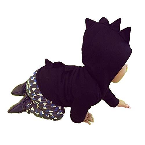 ZODOF Niños Chaqueta Dinosaurio Boy Abrigo con Capucha Bebé Niña Linda del Muchacho Cuello Redondo de Manga Larga Tops Ropa de la Familia del Color del Caramelo Chaquetones Ropa Bebe