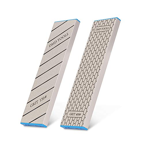   DMD Double-Sided Diamond Sharpening Stone   Delux Diamond Whetstone   Professional Bench Stone   Knife Chisel Honing Stone  10 Inch   (150/400#)   Durable Quality and Exquisite Design