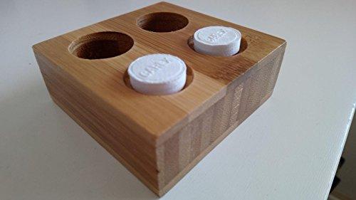 CAREX BANDEJAS DE Bambu para TOALLITAS COMPRIMIDAS EN Forma DE Pastilla